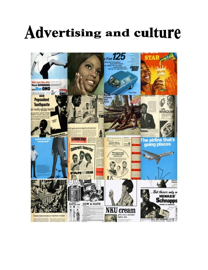 Advertising and culture