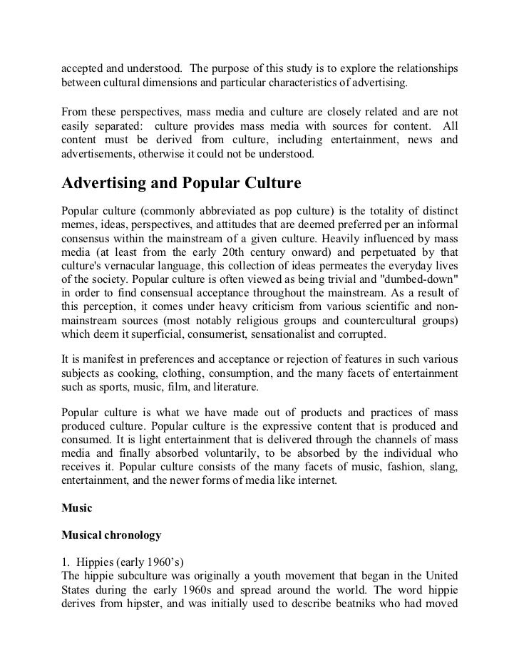 Essay about society and culture