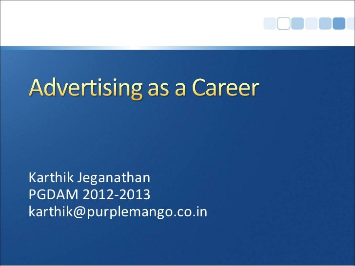 Advertising as a Career