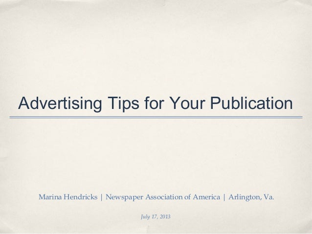 Advertising Tips for Your Publication