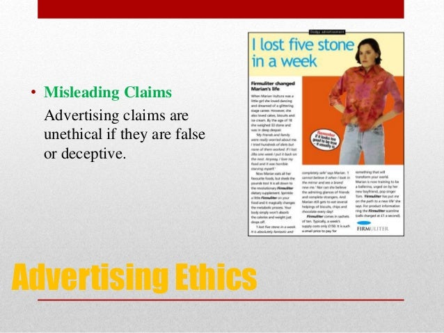 ethics of advertising Watch video they use advertising to tackle social problems ranging from domestic violence to improving public health and reinvest back  it's not only their ethics.