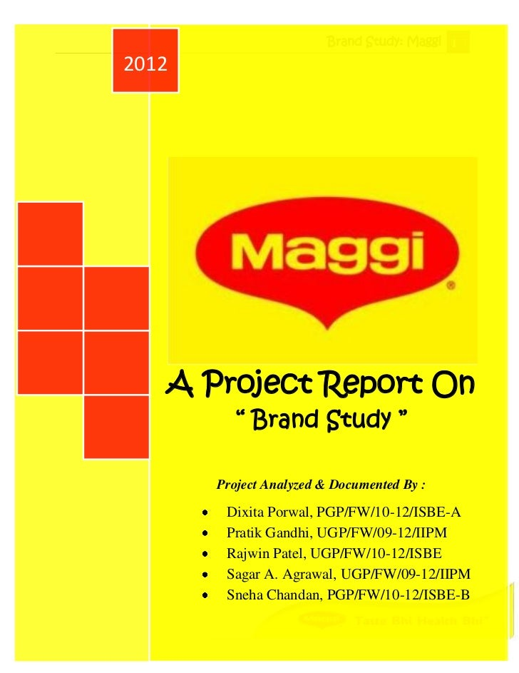 report evaluation market strategy of maggi