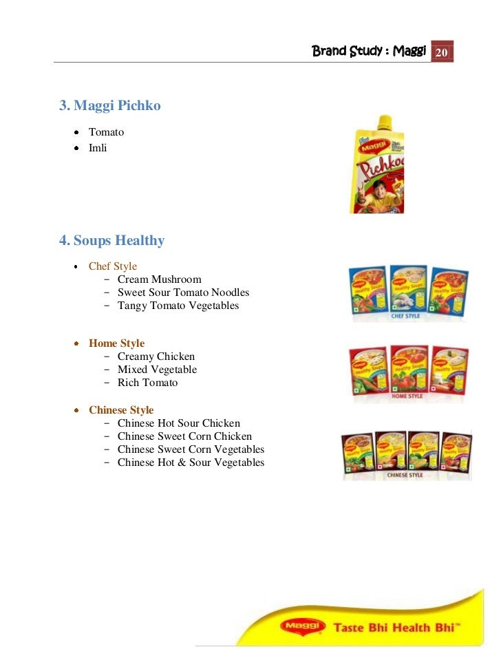 a study of maggi brand extension