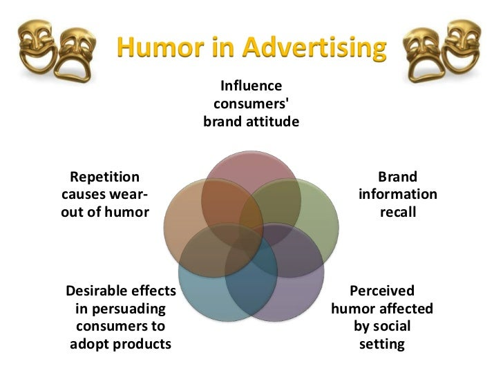 humor in advertising Humor in advertising - a high-risk, high-reward marketing option by kevin lawson let's say it's january 2016, and you're the head of marketing in the mountain dew division of pepsico.