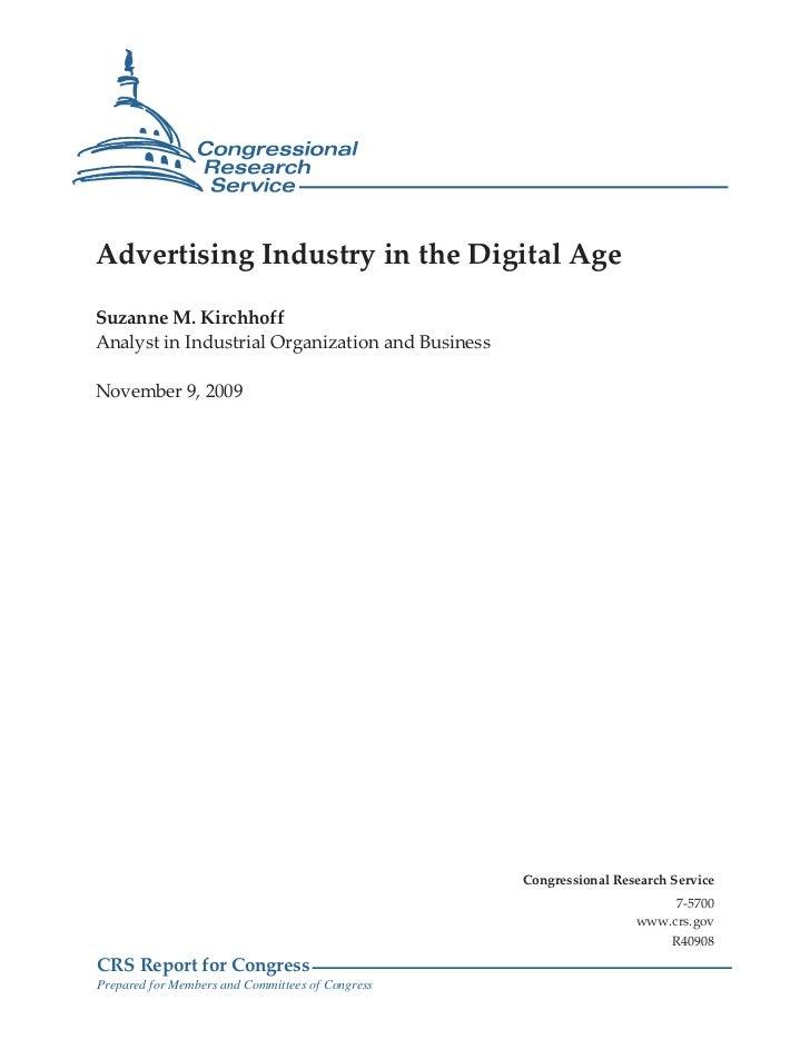 Advertising Industry -Nov Govt Report