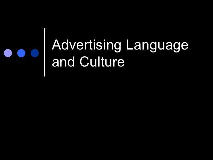 Advertising Languageand Culture