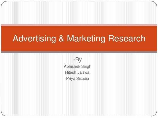 Advertising & marketing research