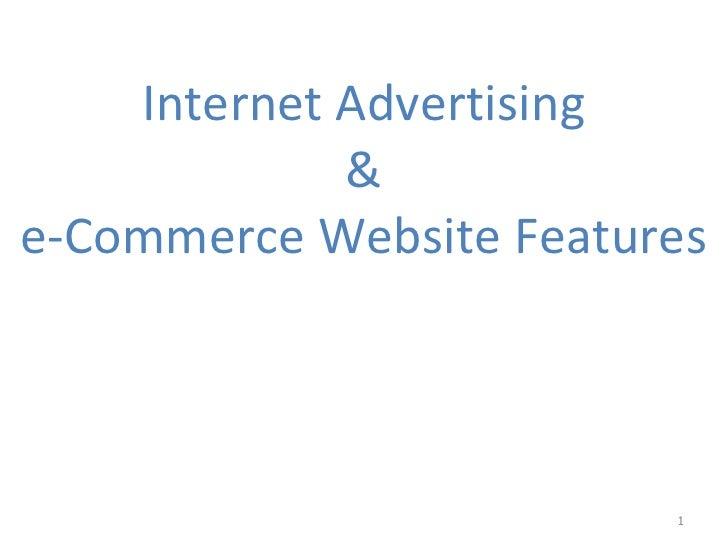 Internet Advertising & e-Commerce Website Features