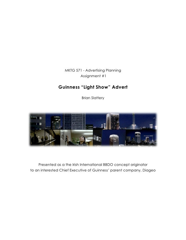 "Advertising Planning - Guinness ""Light Show"" Analysis"