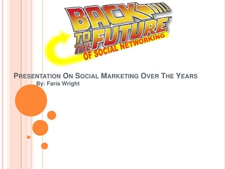 Presentation On Social Marketing Over The Years<br />By: Faris Wright<br />