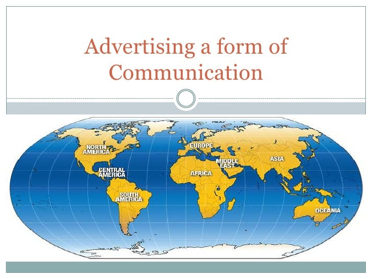 Advertising a form of Communication<br />