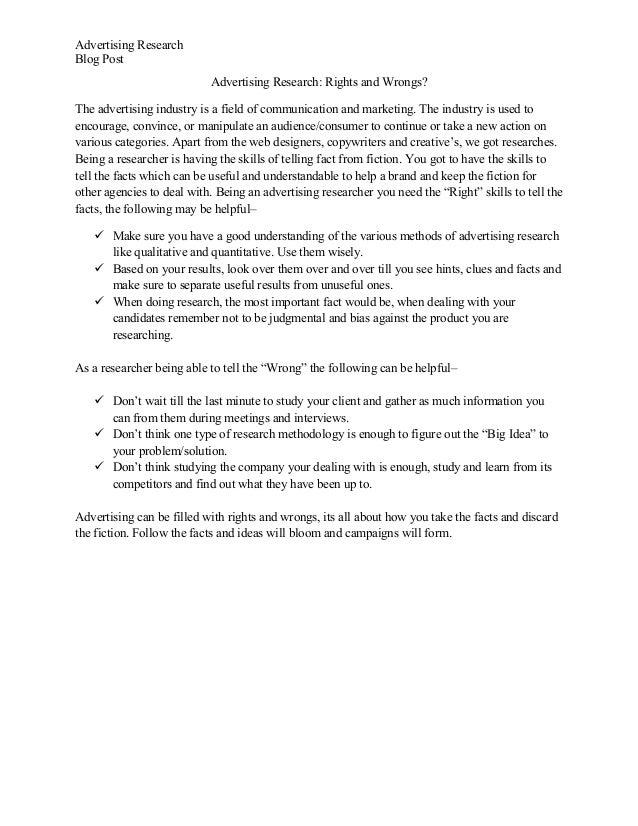Advertising research blog