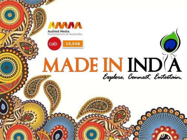 Made in India Magazine : Media Kit 2014-15