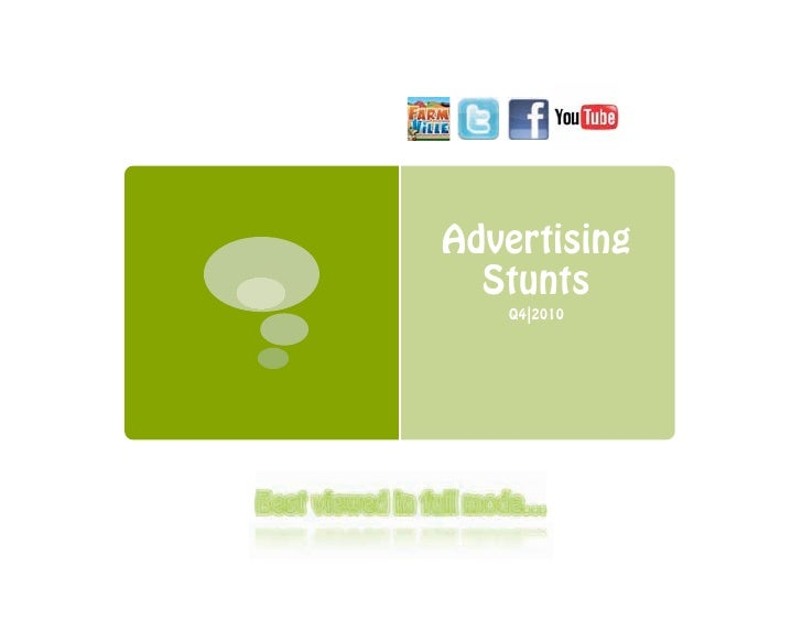 Advertising Stunts Q4/ 2010
