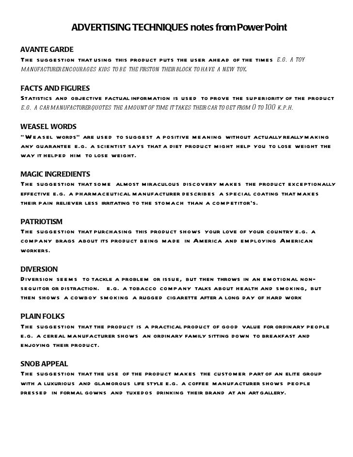 Propaganda Techniques Worksheets - Imatei
