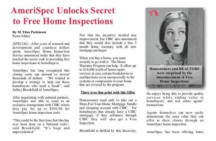 What's the Secret to a Free Home Inspection