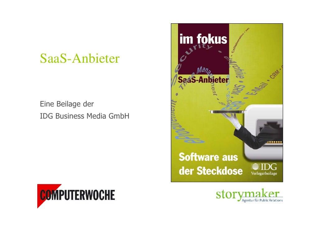 SaaS-Anbieter-Beilage COMPUTERWOCHE 2010