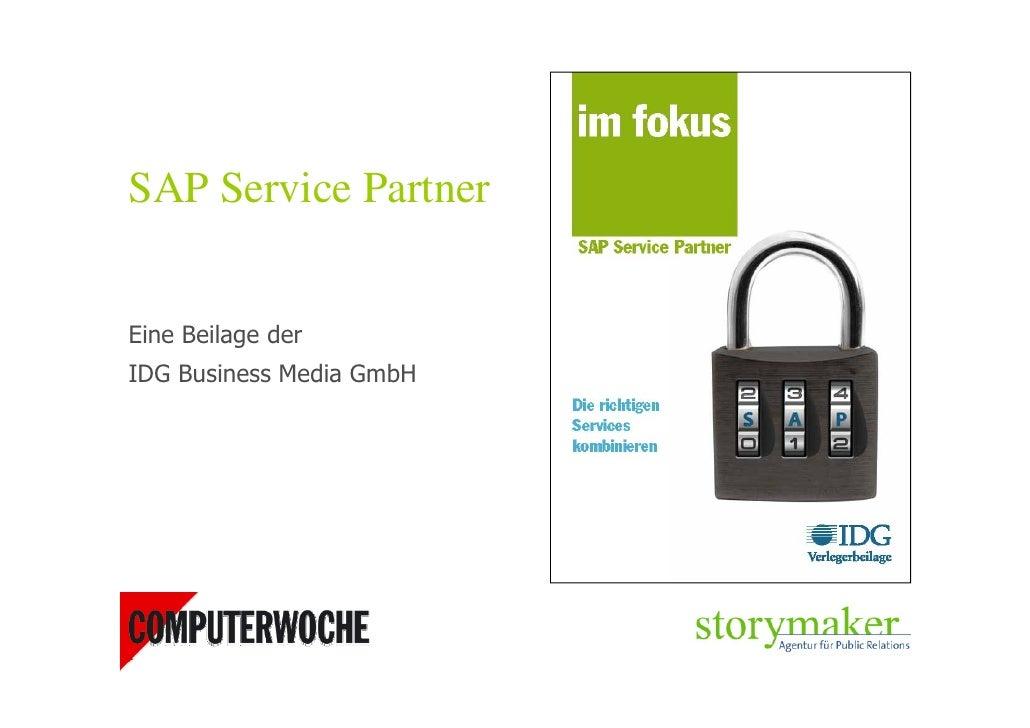 SAP Service Partner   Eine Beilage der IDG Business Media GmbH
