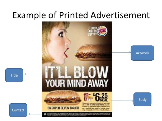 how to write advertisement in english sample