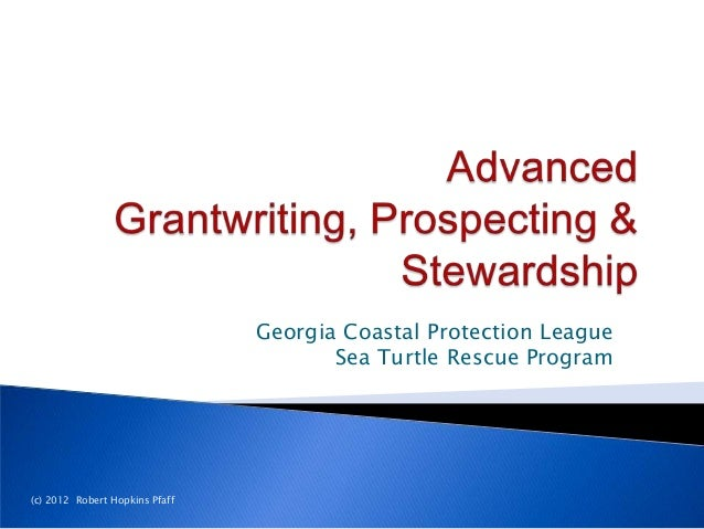 Advanced Grant-Writing, Prospecting & Stewardship