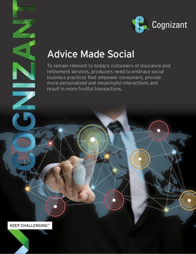 Advice Made Social