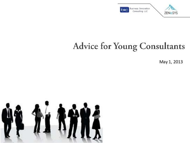 Advice for young consultants