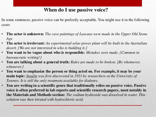 Is it ok if i use passive voice in an academic essay?