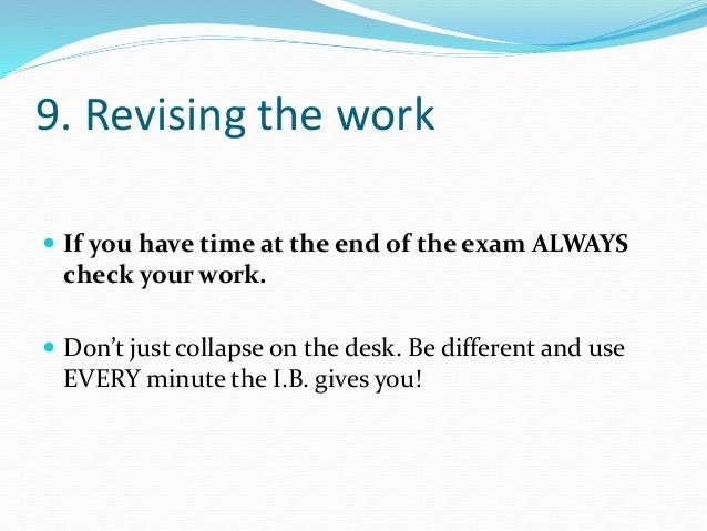 Revision tips for college essays
