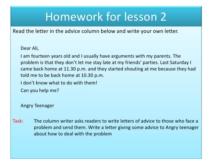 Write a letter (help)?