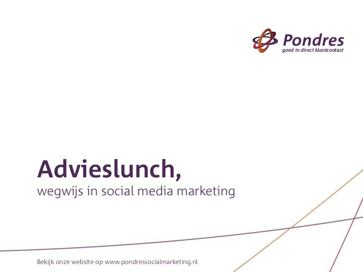Pondres Social Media Advieslunch