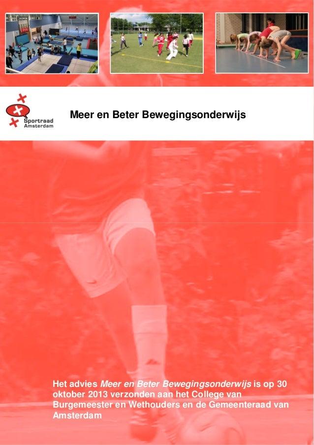 Sportraad Advies Meer en Beter bewegingsonderwijs