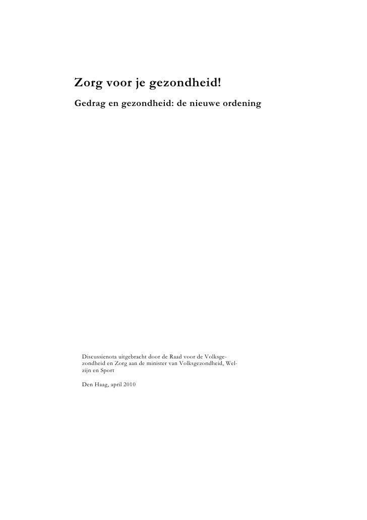 Advies nieuwe ordening apr2010