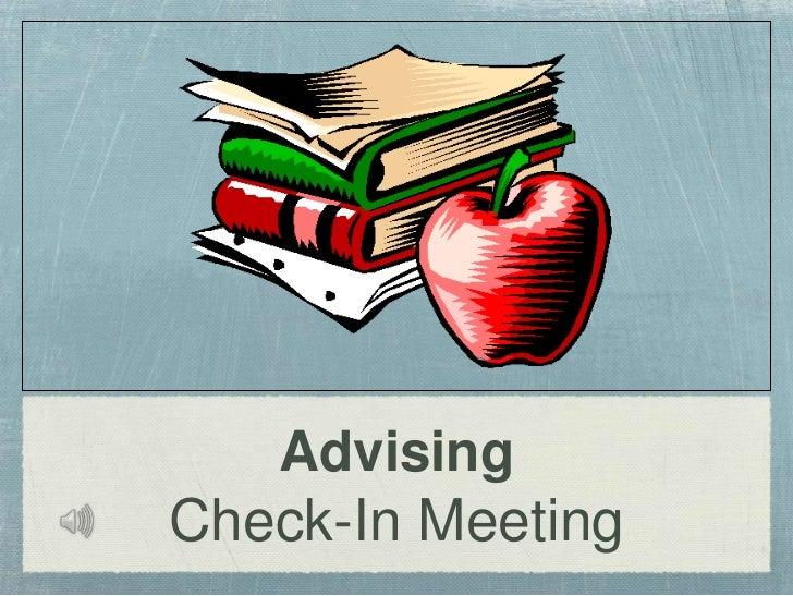 AdvisingCheck-In Meeting