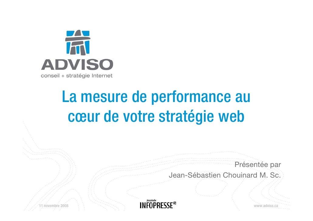 La mesure de performance au              cœur d votre stratégie web                   de           é i    b               ...