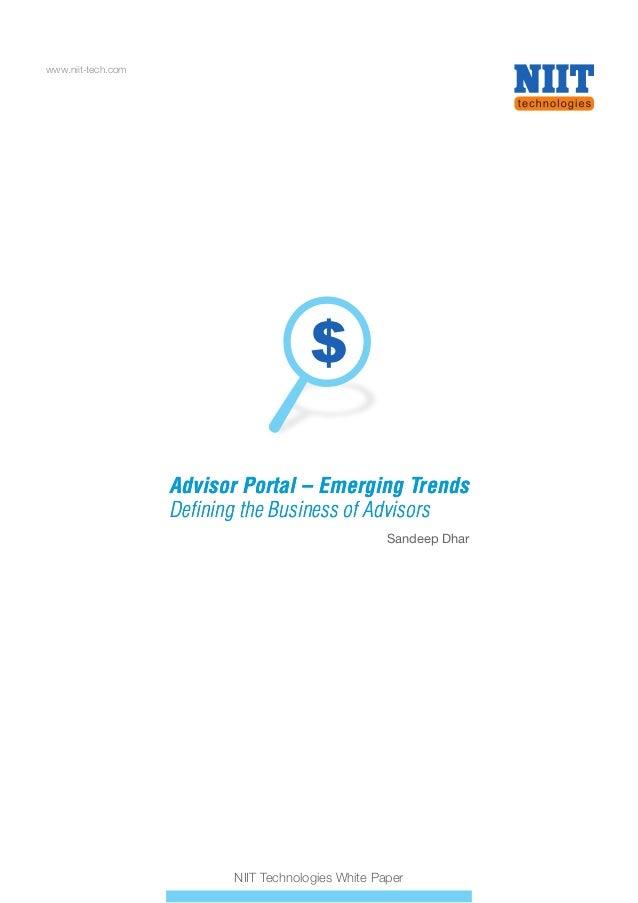 Advisor portal emerging trends