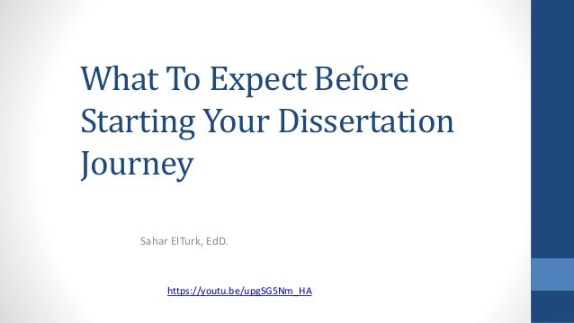 Doctoral dissertation and what to expect