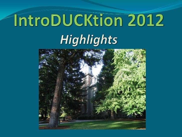 Advisor training highlights slides 2012