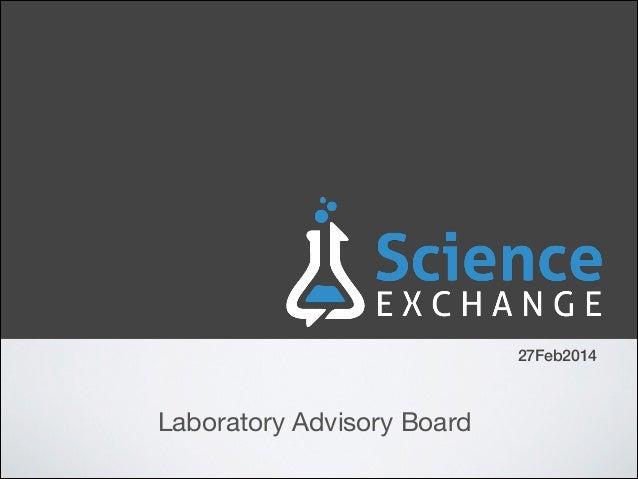 27Feb2014  Laboratory Advisory Board