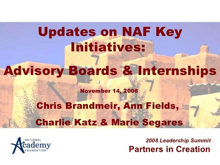 Advisory boards and internships