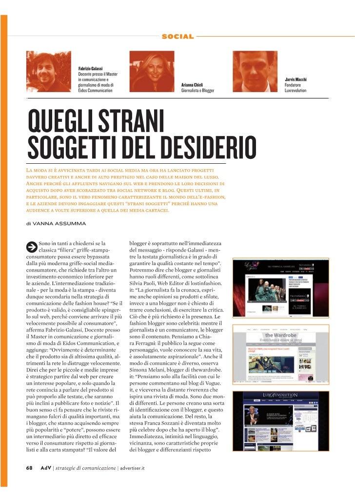 Social Fashion - Adv marzo 2012