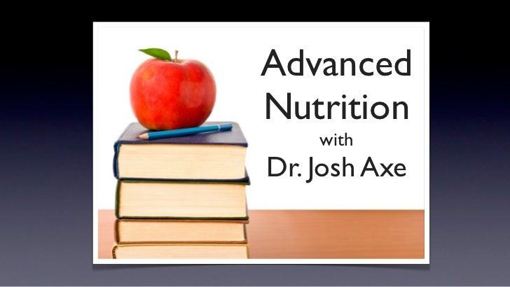 Advanced Nutrition Webinar Presentation
