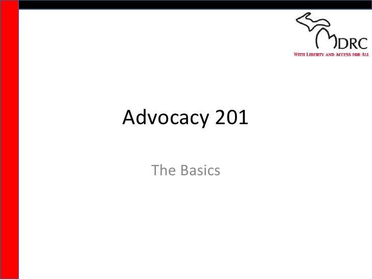 Advocacy 201