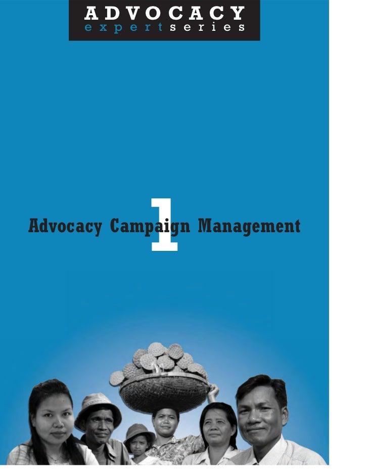 Advocacy Campaign Management