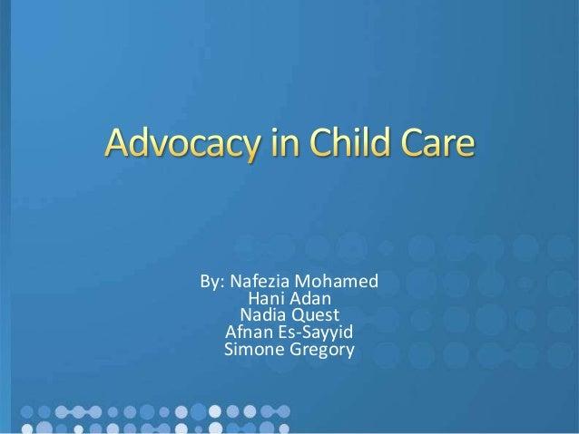 Advocacy in child care1