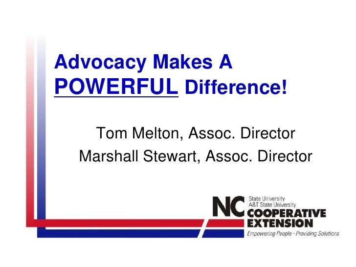 Administrative Skills -  Advocacy NC