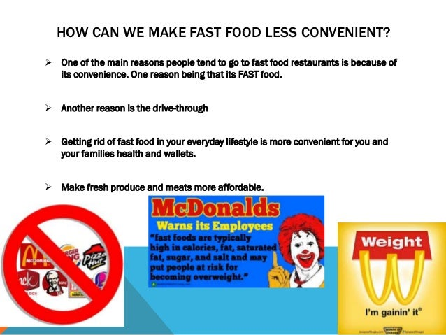 how fast food affect our daily lives