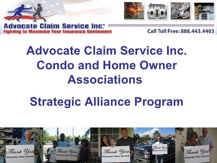 Advocate claim condo_association_presentation