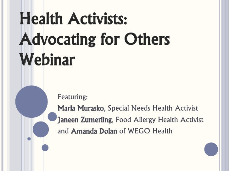 Advocating For Others Webinar