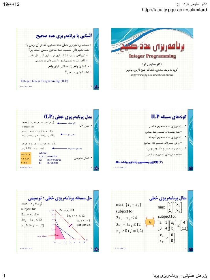 Adv Or 13902 Chap3 Integer Programming
