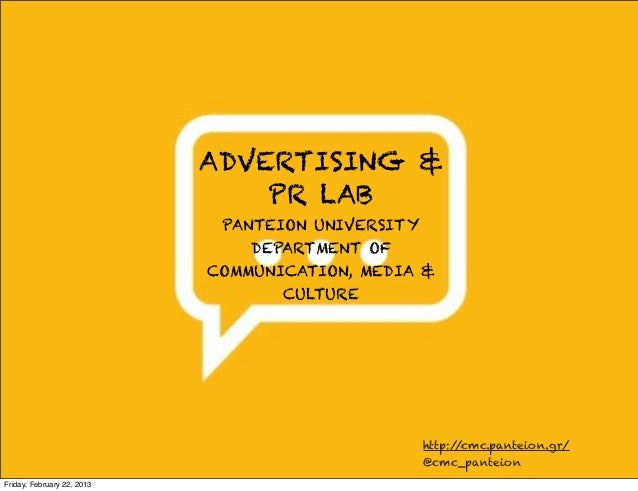 ADVERTISING &                                PR LAB                             PANTEION UNIVERSITY                       ...